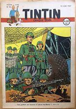 TINTIN Édition belge fascicule n°24 du 12 juin 1947 Bon état