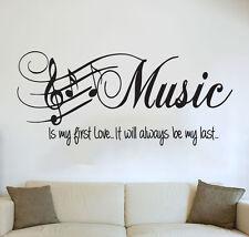 frase - Dormitorio Decoración Pared Música es My Primera Amor Pegatina