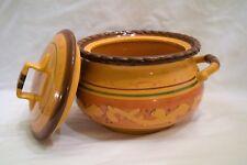 HOME & GARDEN PARTY Tuscan Home 3qt Bean Pot w/Lid - EUC!