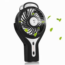 LuxLumi Mini Hand Held Portable Water Misting Fan with Rechargeable Battery