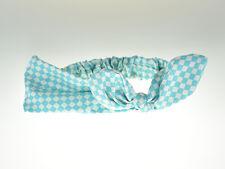 Blue Baby Girl Handmade Elacstic Nylon Headband Turban One Size