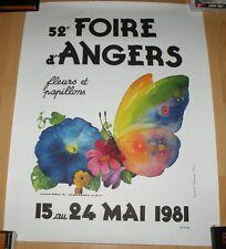 52e FOIRE D'ANGERS 1981 JEAN ADRIEN MERCIER TIRAGE NUMEROTE 50X65 TRES BON ETAT