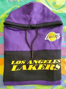 NEW LOS ANGELES LAKERS HOODIE SWEATSHIRT NBA BASKETBALL MENS UNK SIZE M