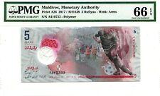 MALDIVES 5 RUFIYAA 2017 MONETARY AUTHORITY PICK A 26 LUCKY MONEY FOOTBALL $130