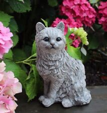 Beau Shabby Cat Statue Stone Garden Ornament Cornwall Stoneware All Weather Gift