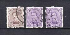 Roi ALBERT Ier - émission de 1915 - lot de 3 timbres variétés - voir description