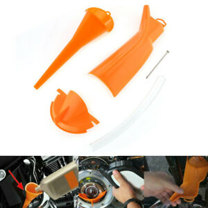 3x Motorcycle Drip-Free Oil Filter Funnel Tool For Harley Davidson