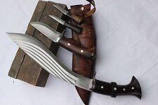 "12.5"" 5 Fullers Guard Handle Kukri,Hand Forged Blade Farmer Khukuri EUK"