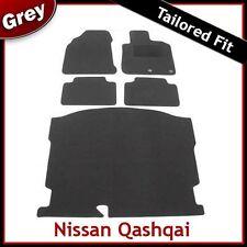 NISSAN QASHQAI Mk1 5-POSTI 2007-2014 SU MISURA MOQUETTE PAVIMENTO Auto & Grigio le stuoie di avvio