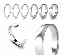 Brand New Hallmarked 9ct White Gold Court Shaped Comfort Fit Wedding Ring Band