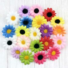 15/100Pcs 4cm Artificial Silk Daisy Flower Heads Bridal Wedding Decor Craft Lots