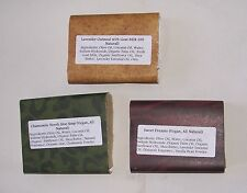 Lot Of 3 Bars Hand Made All Natural Soaps Assortment New Fast Free Ship In A Box