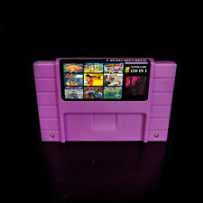 120 in 1 SNES Multi Cart Game Zelda Mario World Earthbound EVO Free Ship USA Top