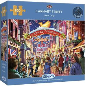 Gibsons Carnaby Street  500 Piece Jigsaw Puzzle By Steve Crisp Free P&P