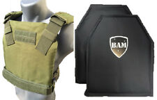 Level IIIA 3A | Body Armor Inserts | Bullet Proof Vest | BAM Low Pro Vest -OD