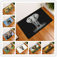 2019 Style Lifelike Elephant Print Carpets Anti-slip Floor Mat Outdoor Rugs