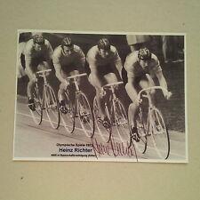 Heinz RICHTER signed Autogramm 10x14 cm 2. OLYMPIA 72 Rad