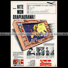L'ALSACIENNE Chamonix Orange Drapeaurama Biscuits 1962 Pub Publicité / Ad #A265