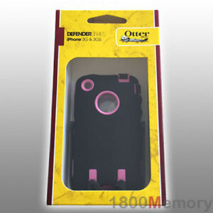 OtterBox Defender Case for Apple iPhone 3G Black/Pink builtin Screen Protector