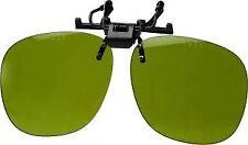 Lightweight Plastic Clip-On Flip-Up Spectacles - Green Welders Lens.