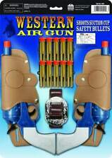 Western Air Gun Set With Holsters And Suction Cup Bullets New Fast Free Shipping