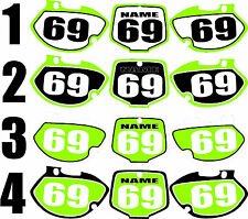 1999-2002 Kawasaki KX 125 250 KX Number Plates Side Panels Graphics Decal