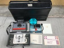 Vintage Polaroid 104 Automatic Land Camera w/ Case & Manuals - Great Condition!