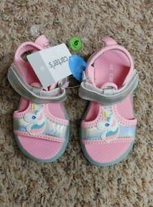 NWT Toddler Pink/Mint Carter's Light-Up Sole Unicorn Sandal 7M