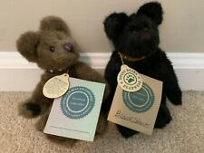 Boyds Bears Investment Collection Set of 2 Small Bears with Leather Collars New