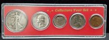 1945 United States Coin Collection 5 Pieces 1 Cent-50 Cent Collectors Year Set