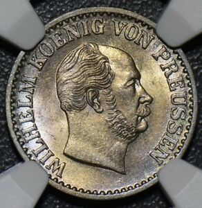 NG0103 Germany Prussia 1870 Groschen NGC MS 64  combine shipping