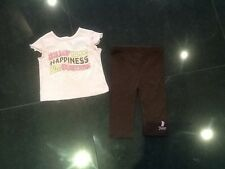 Juicy Couture New & Gen. Baby Girls Two Piece Set Brown/Pink Set Age 6/12 MTHS