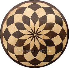 "18"" Wood Floor Inlay 85 Piece Baltic Circle Medallion kit DIY Flooring Table Box"