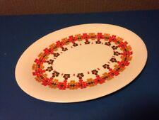 Royal Doulton Retro Kaleidoscope Oval Platter Plate 13inch Vintage Fine China