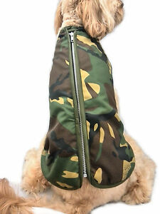 Doggie Coats Camouflage Camo Step-In Fleece Lined Waterproof Dog Coat Jacket