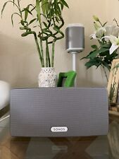 Sonos Play 3 Bundle ,Pair,Stereo Surround SystWhite+ Bridge&Coonect.Amzing sound
