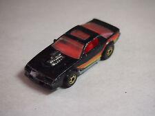 1983 Hot Wheels Black Chevrolet Blown Camaro Z-28 Sun Roof car 1:64 (G)