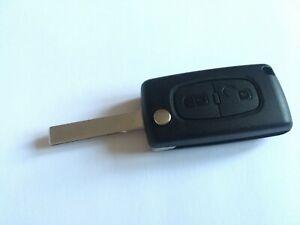 Peugeot Expert Window Van 2006-2016 2 Button Flip Remote Case HU83 Blade
