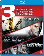 Blu Ray CYBORG, DEATH WARRANT & DOUBLE IMPACT. Region free. New sealed.