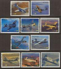 Scott #3916-25 Used Set of 10, American Advances In Aviation