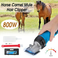800W Electric Sheep Mule Cow Animal Clipper Horse Camel Hair Shaver Shearing Kit
