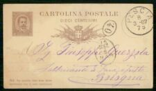 Mayfairstamps ITALY STATIONERY 1887 CARD PESCIA TO BOLOGNA wwi95185