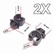 2X Engine Bonnet Support Rod Clips for Opel, Vauxhall, GM, Mitsubishi