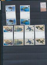 XC58191 British Indian Ocean turtles reptiles gutter pairs MNH cv 37 EUR