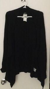 NEW Beautiful Black Cardigan Size L best fit M/ 10/12