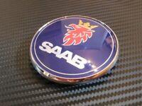 NUEVO SAAB 68mm Capó EMBLEMA INSIGNIA 3 pines DELANTERO 93 95 9-3 9-5 2003-2010