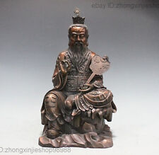 China Pure Bronze Copper Taoism Founder  Lord Lao jun Taoist God Buddha Statue