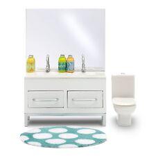 LUNDBY Badezimmerset salle de bain armoire à miroir 1:18 poupées meubles meubles accessoires