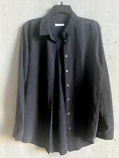 equipment Black Silk Button Down Shirt Top Medium