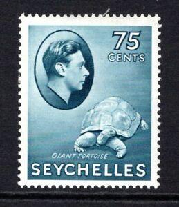 Seychelles KGVI  1938-49  75c. Slate Blue SG145 M/Mint